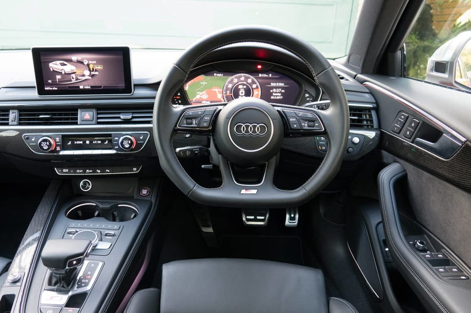 The interior is, as always with Audis, super-cool.