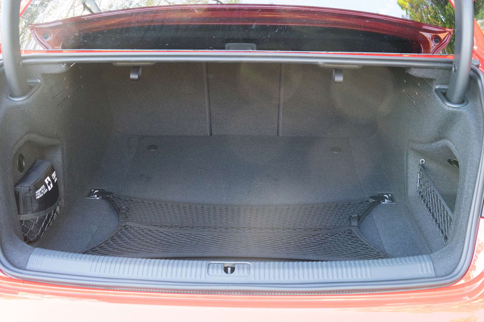 Open up the bootlid and you'll be greeted with 480 litres of cargo space.