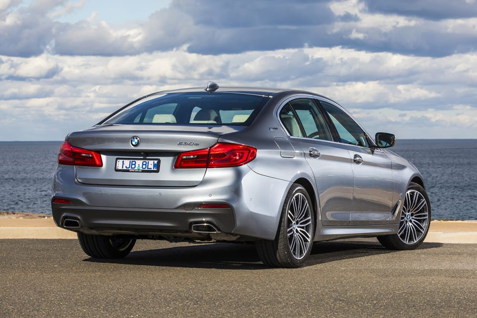 The 530e looks like a 530i in every way – a large, imposing executive saloon.