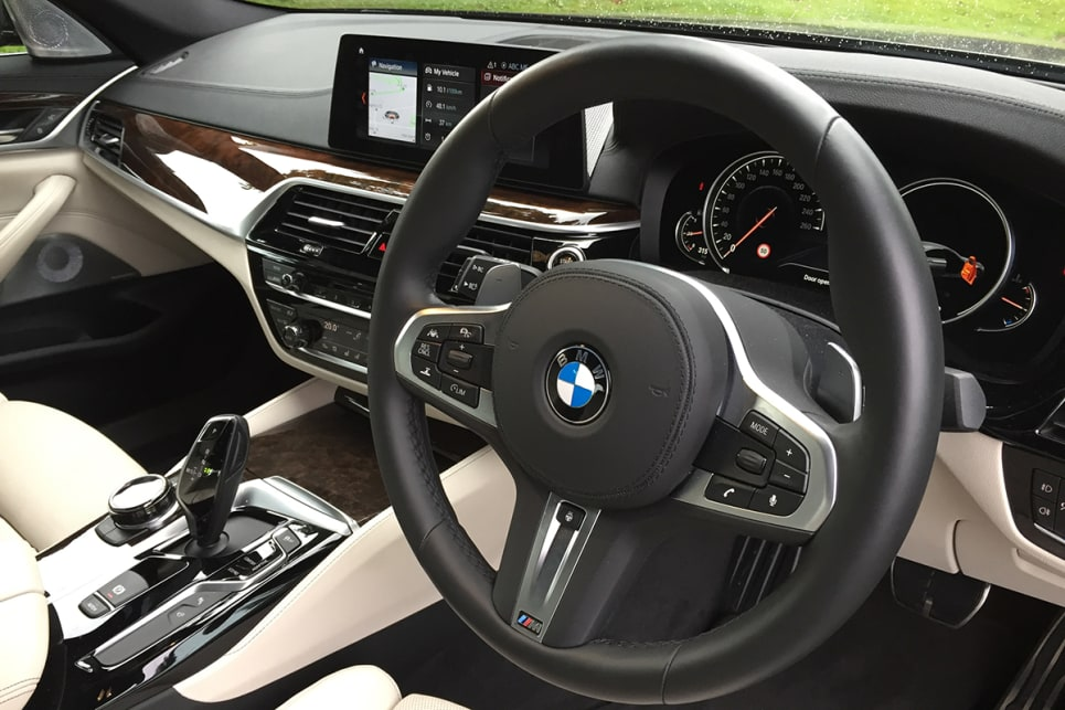 That the 5 Series has upped its game is clear in the sumptuous luxury of the interior. (Image credit: Vani Naidoo)