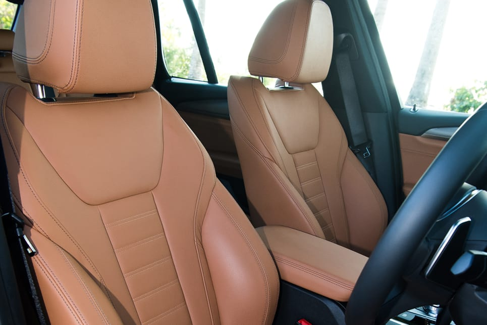 Step up to either the 30i or 30d, and you'll add full leather seats.