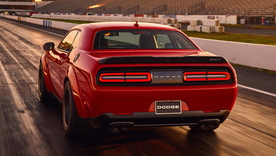 Zero to 100km/h in 2.3 seconds and a number of other world firsts mean the Challenger SRT Demon is adequately named.
