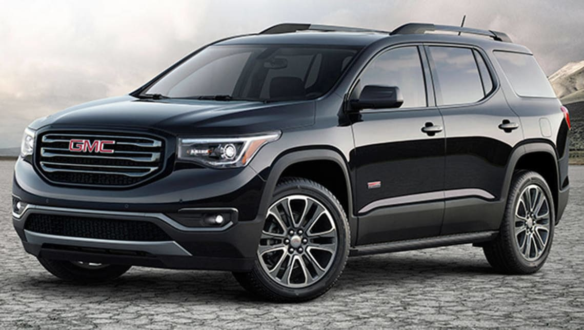 The GMC Acadia (2016) will be sold as a Holden Acadia in 2017.