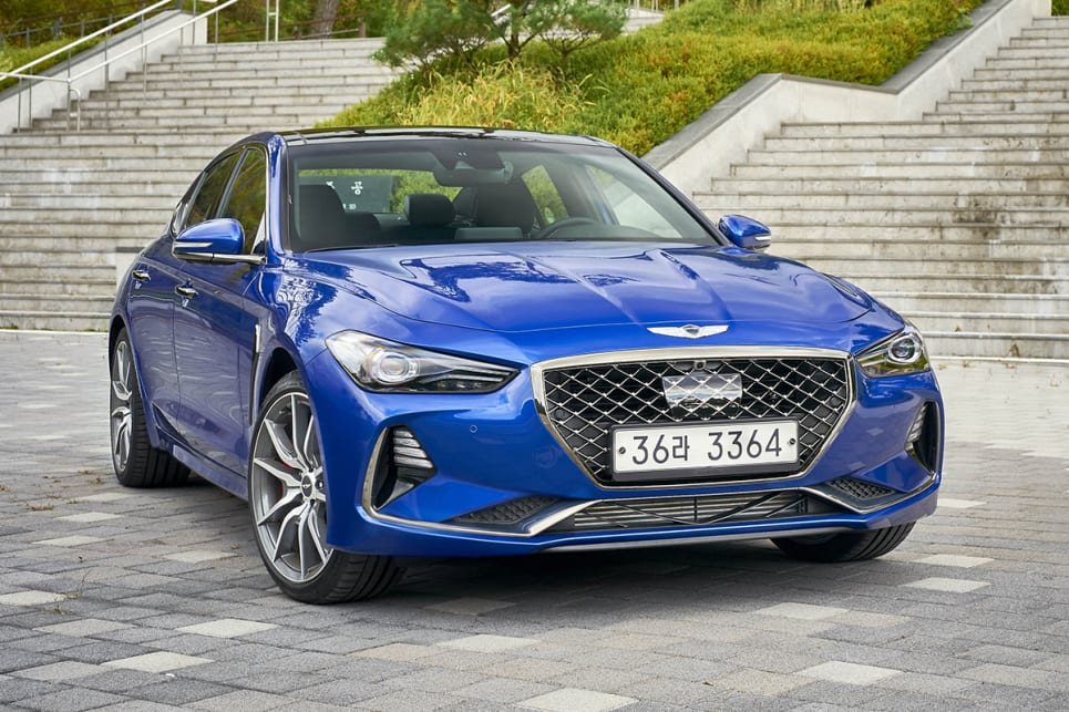 The G70 is the first in a fleet of new-look Genesis product, previewing the brand's new design language that will appear on almost all future products.