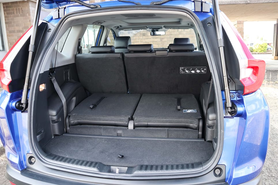 The seven-seater loses about 50 litres of luggage space to its five-seat brethren when the third row is folded flat. (image credit: Tim Robson)