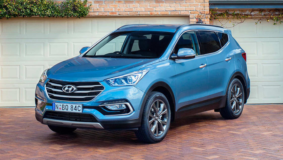 The current Hyundai Santa Fe should be able to accommodate three child seats across the back seat.