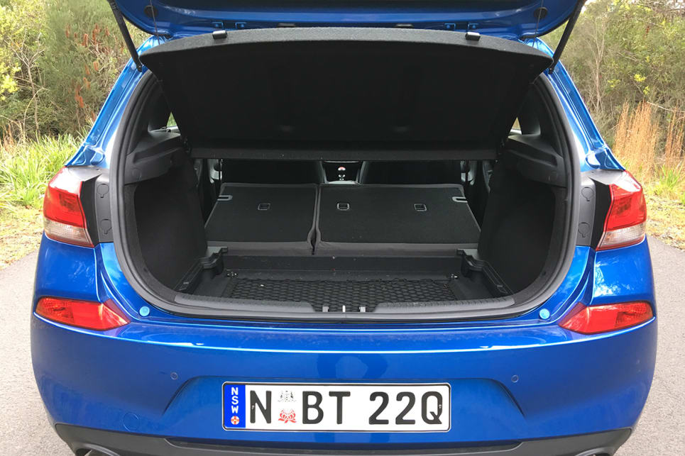 The 60/40 split rear seats are harder to fold flat. (image credit: Andrew Chesterton)