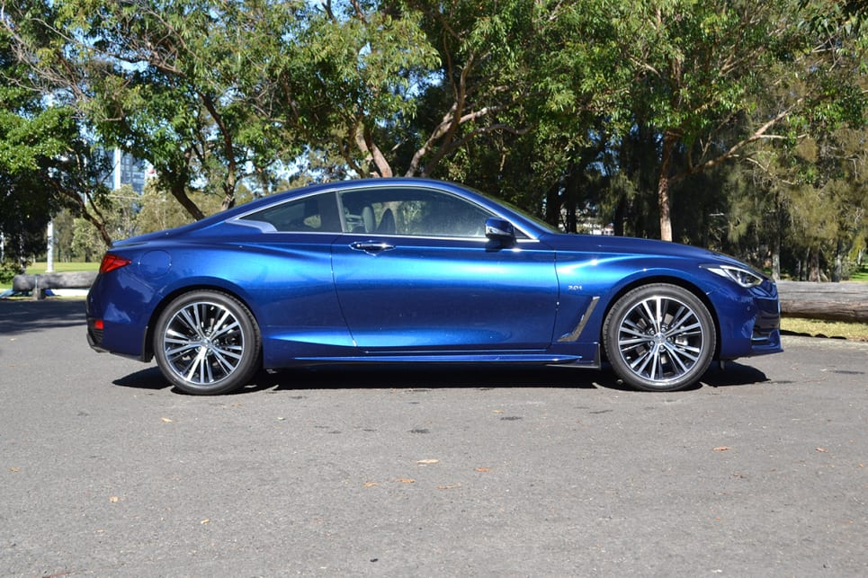In its 'Iridium Blue' paint the Q60 looked amazing with its curvy, sleek profile.