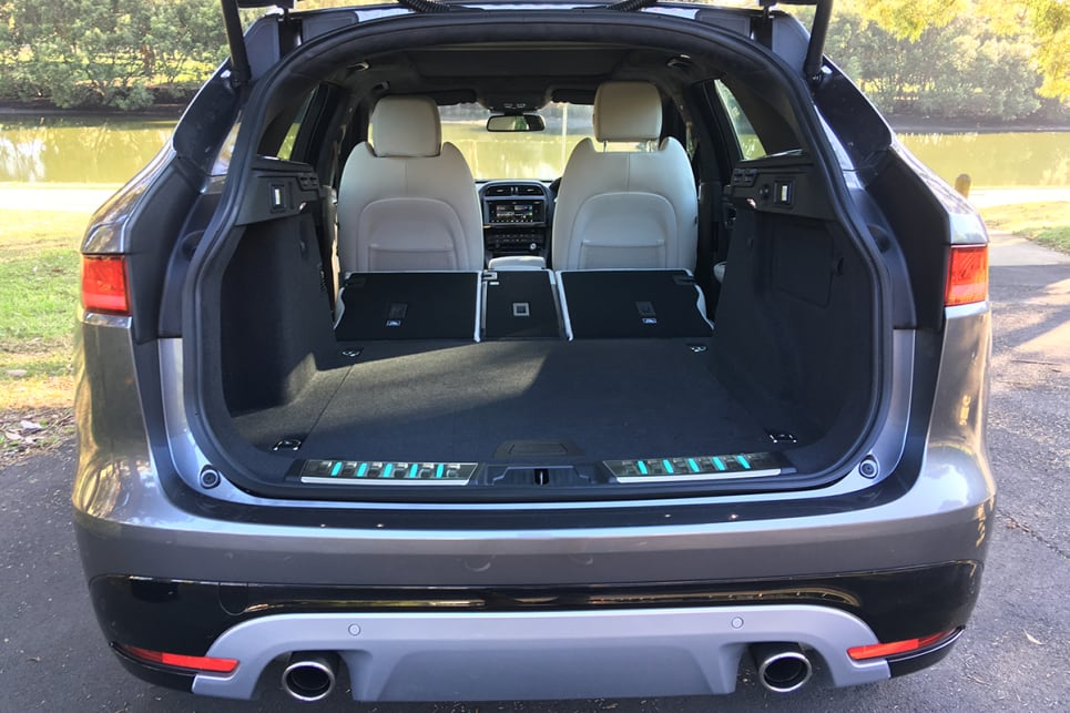 Dropping the 40/20/40 split-fold back seat from the easy-reach controls in the boot will approximately triple that volume.