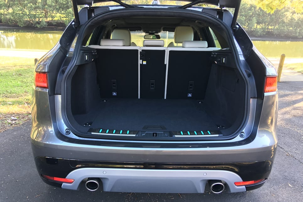 The auto-opening boot reveals a 508-litre storage space.