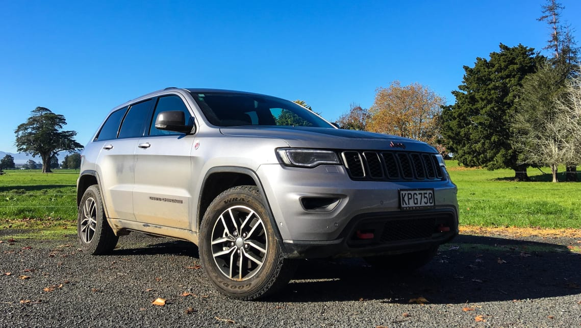 The distinctly coloured tow hooks front and rear help the Trailhawk stand out. (Image credit: Tim Robson)
