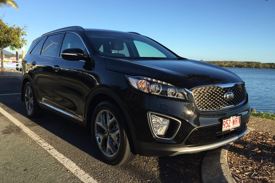 Allow your imagination to run a bit and it's easy to see how the Sorento's 'Tiger Nose' grille came by its name. (image credit: Vani Naidoo)