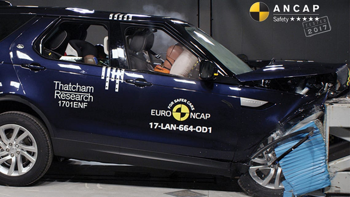 The incoming Discovery has been crash tested by ANCAP, with the new Land Rover performing its best in the pole test.