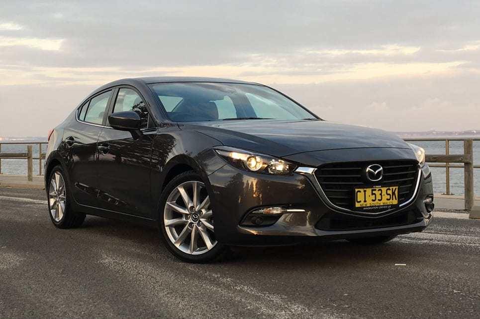 In both sedan and hatch, the Mazda3 looks low, sleek and classy. (Image credit: Peter Anderson)