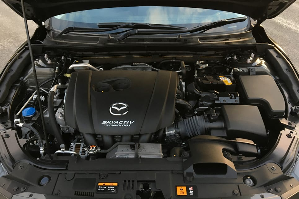 SP25 models run the 2.5-litre SkyActiv, with 138kW/250Nm. (Image credit: Peter Anderson)