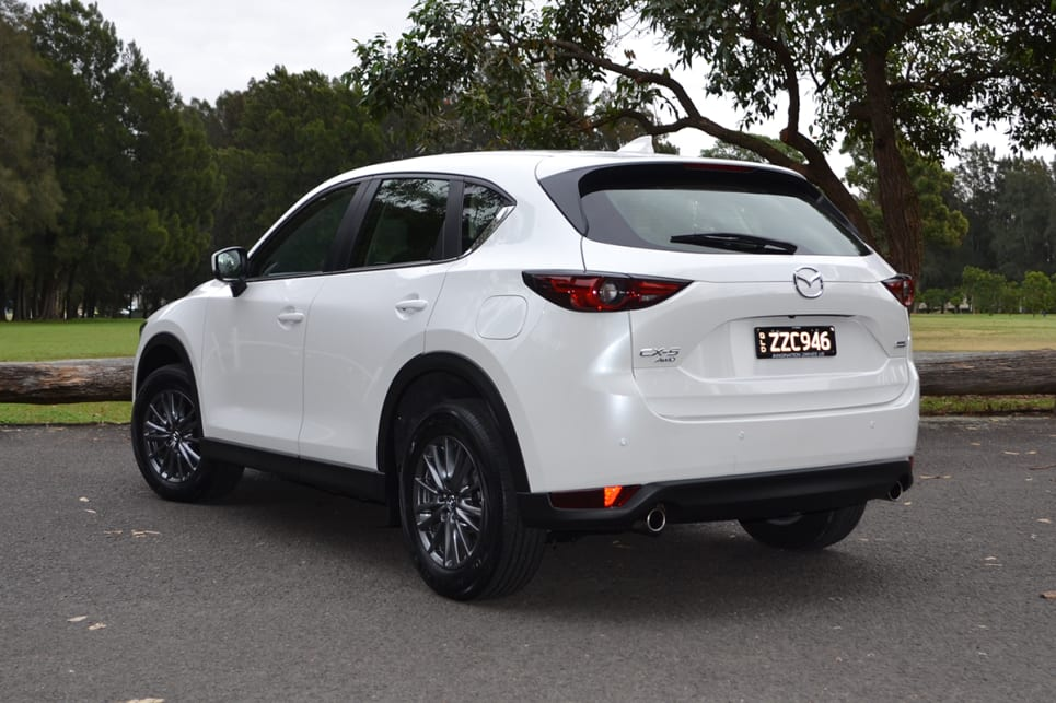 The new CX-5 is blessed with a more prominent grille, and a sleeker head and tail-lights.(Image credit: Richard Berry)