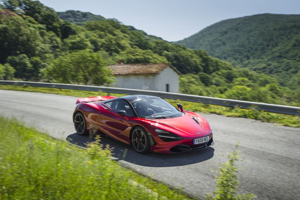 Because the 720S is quite light, the nose goes where you point it.
