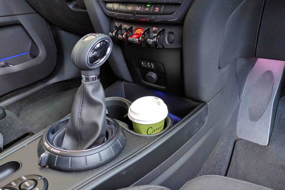 The two front cup holders saw plenty of takeaway coffee cup action. (Image credit: Dan Pugh)