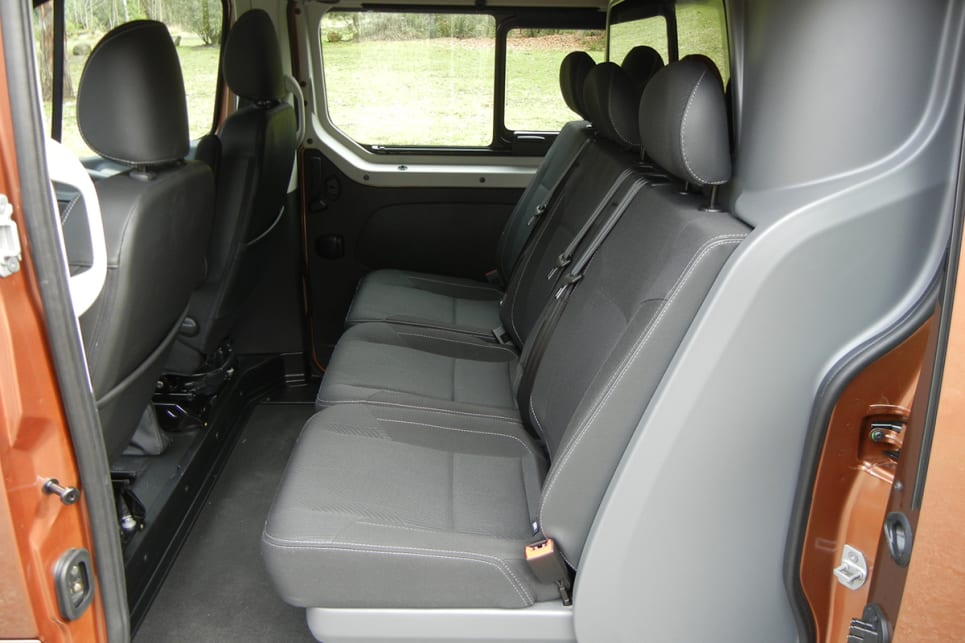 Rear passengers have access to storage pockets under the bench seat. (image credit: Mark Oastler)