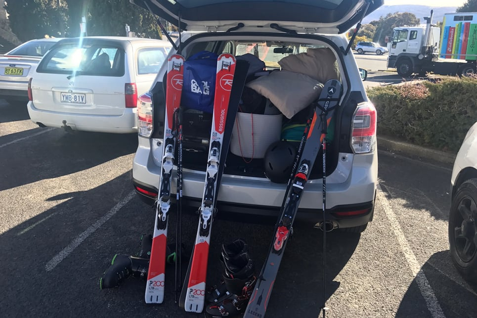 The Forester was packed with four adults and snow gear. (image credit: Peter Anderson)