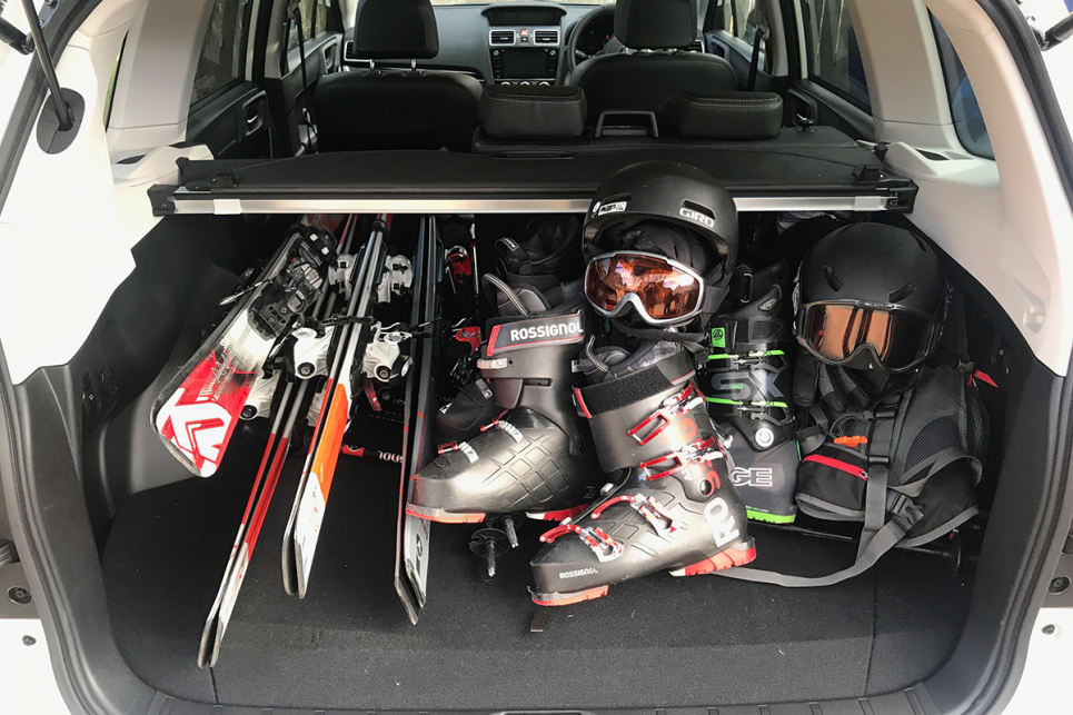The Forester's boot space is very useful. (image credit: Peter Anderson)