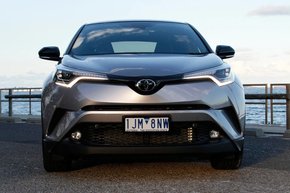 Toyota has finally dropped its Where's Wally? approach to design and stuck a pretty wild set of panels on the C-HR. (image credit: Max Klamus)