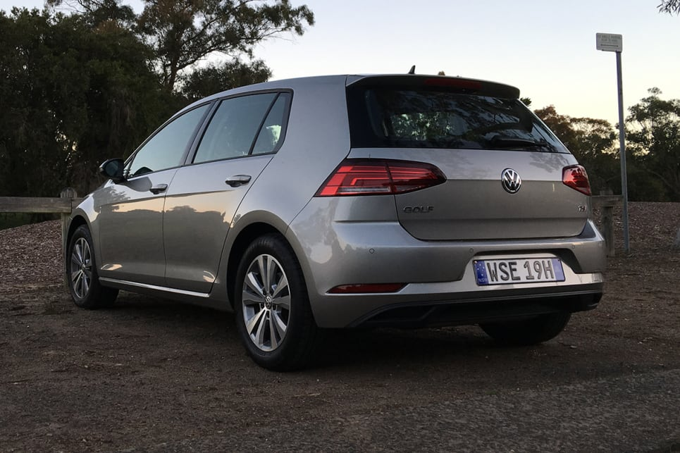 Front and rear parking sensors, and a reversing camera with grid lines, help the Golf snuggle into free spaces. (image credit: Andrew Chesterton)