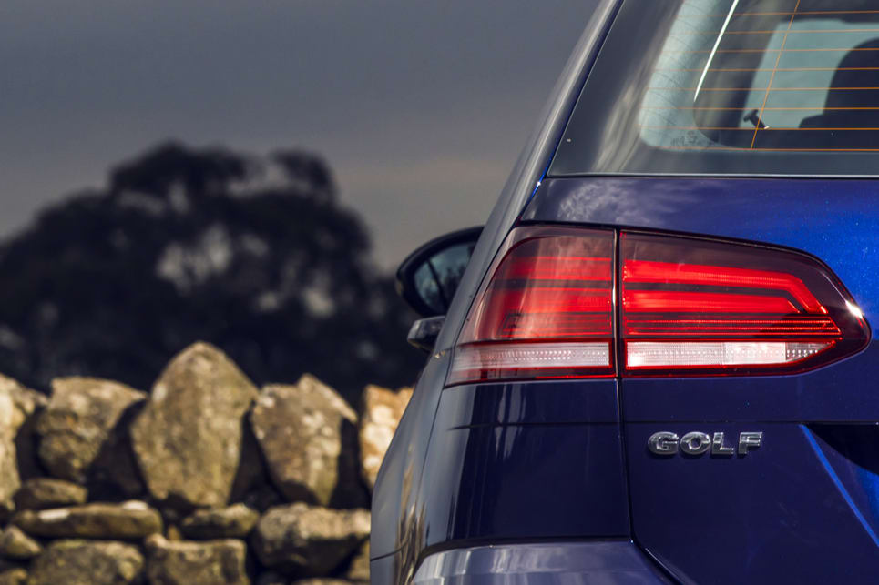 LED tail-lights are now standard across the range. (Volkswagen Golf 110TSI Comfortline wagon shown)
