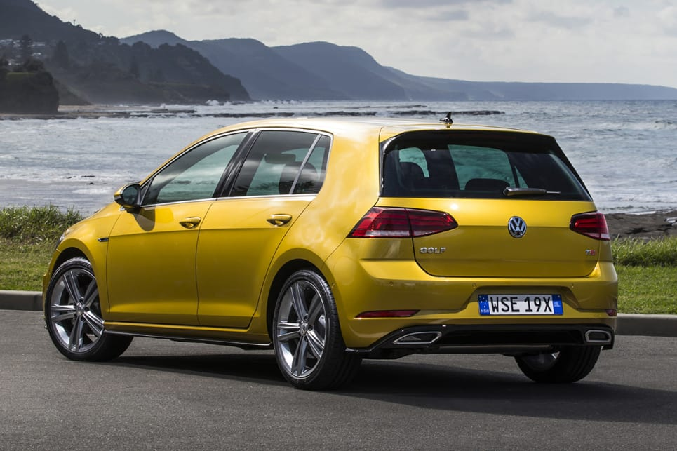 At the back, the bumper has also been refreshed. (Volkswagen Golf 110TSI Highline with R-Line package shown)