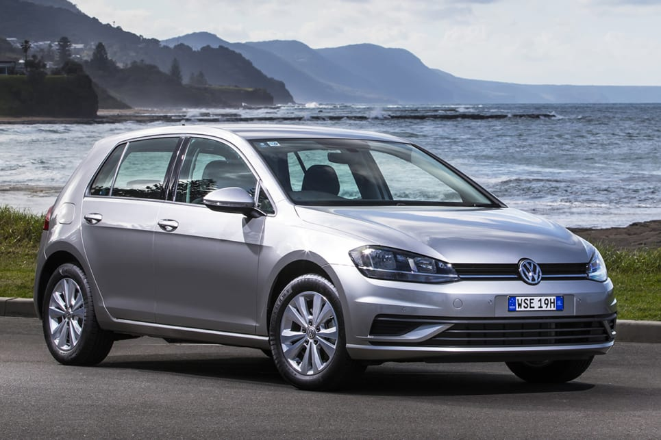 Exterior changes focused on new headlights, revised front guards, and a restyled bumper. (Volkswagen Golf 110TSI Trendline shown)