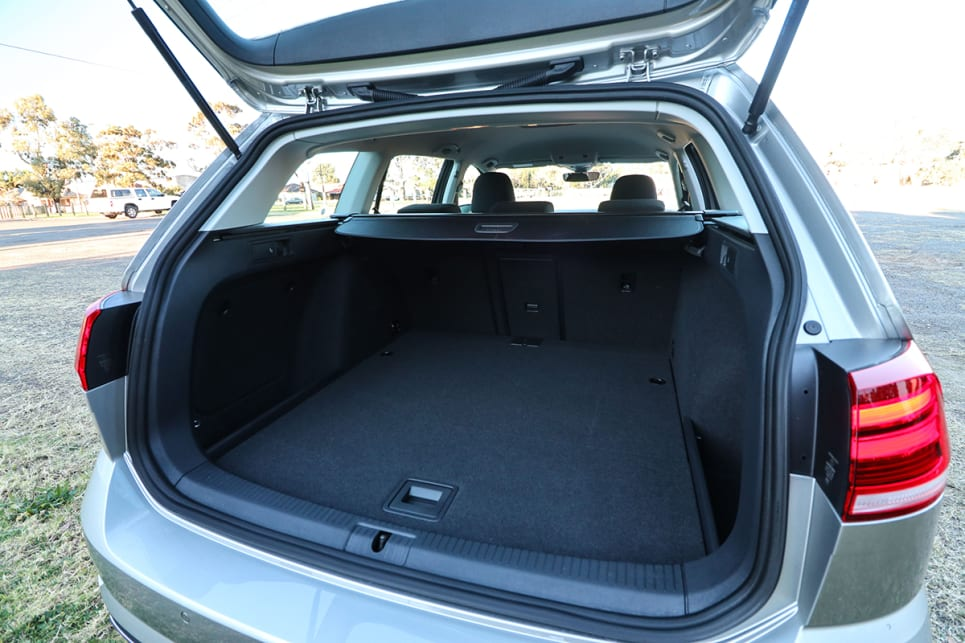 the Golf wagon offers 605 litres with the 60/40 split/fold rear seats up. (image credit: Tim Robson)