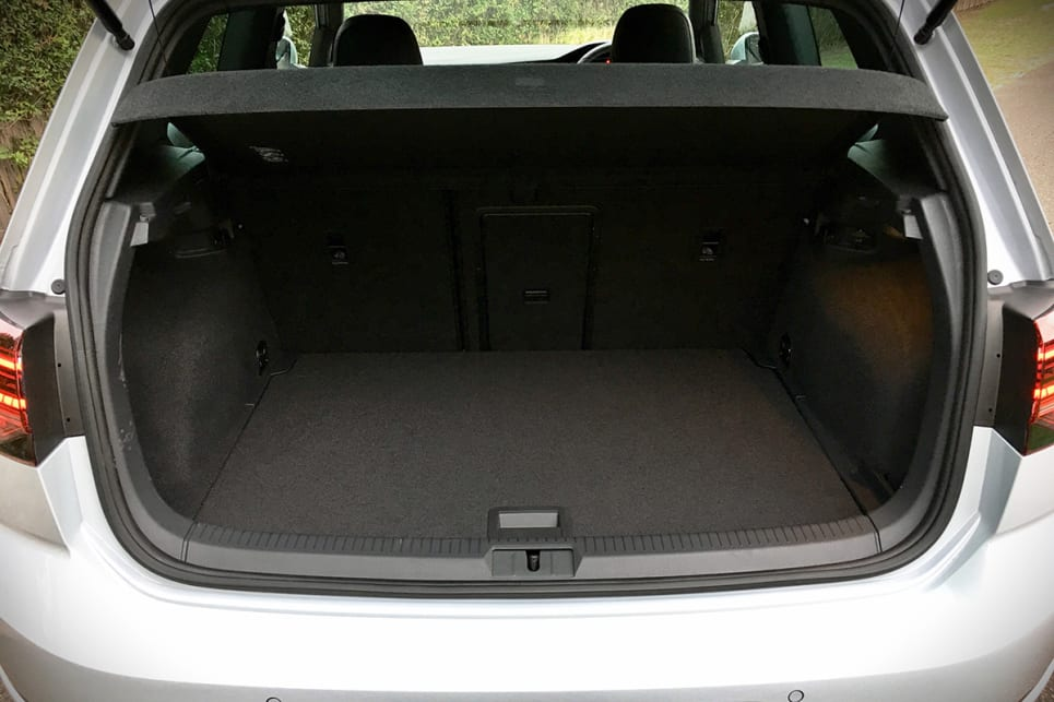 You get a boot capacity of 380 litres - identical to the five-door.