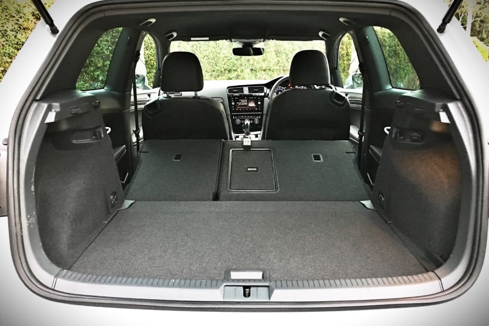 The 380 litres of available capacity jumps to 1270 litres with the rear seats folded down.