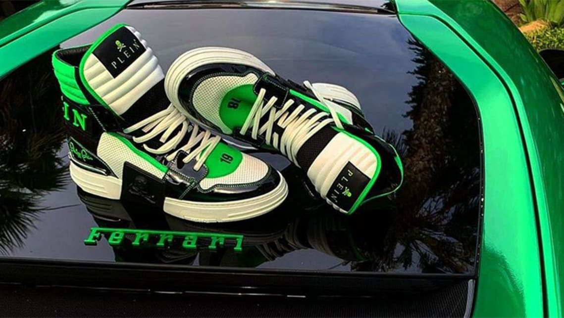 If you have a bright green supercar of course you need shoes to match. (image credit: Philipp Plein)