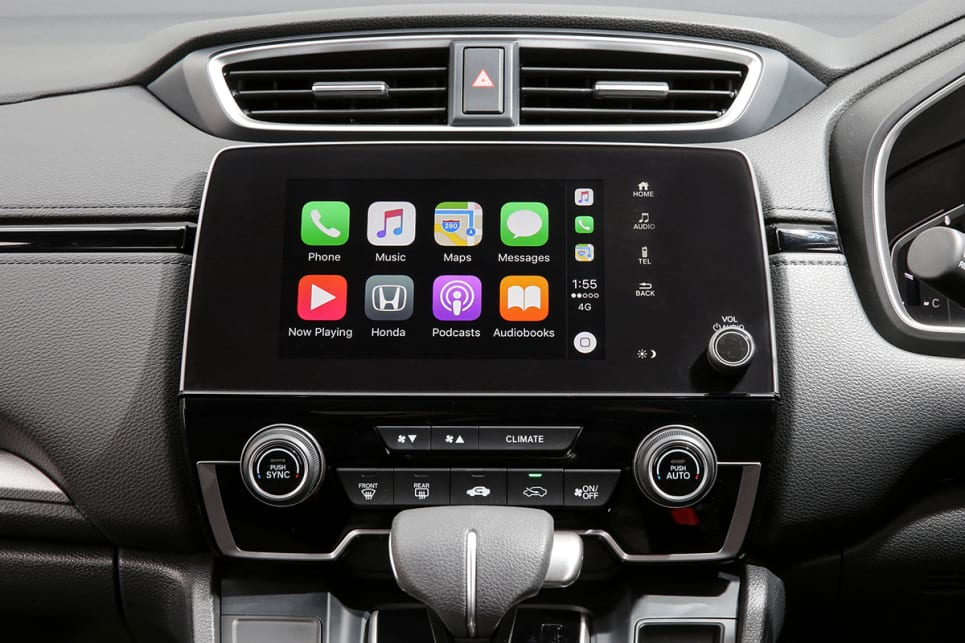 The 7.0-inch touchscreen comes Apple CarPlay and Android Auto and also acts as a multi-angle reversing camera. (VTi model shown)