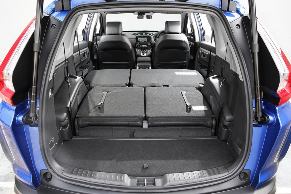 There is 472 litres in the seven-seat CR-V. (VTi-L model shown)