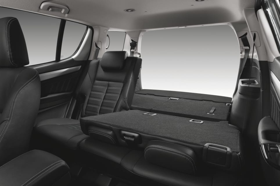 The LS-T has 1830 litres of space when the second and third rows are folded down.