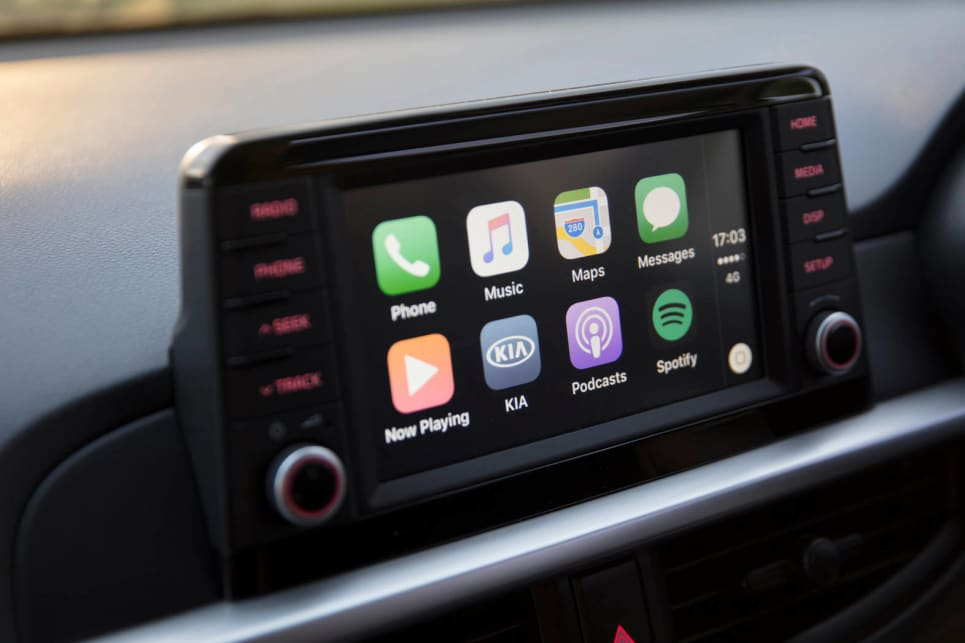 The new 7.0-inch touchscreen is equipped with Apple CarPlay and Android Auto.