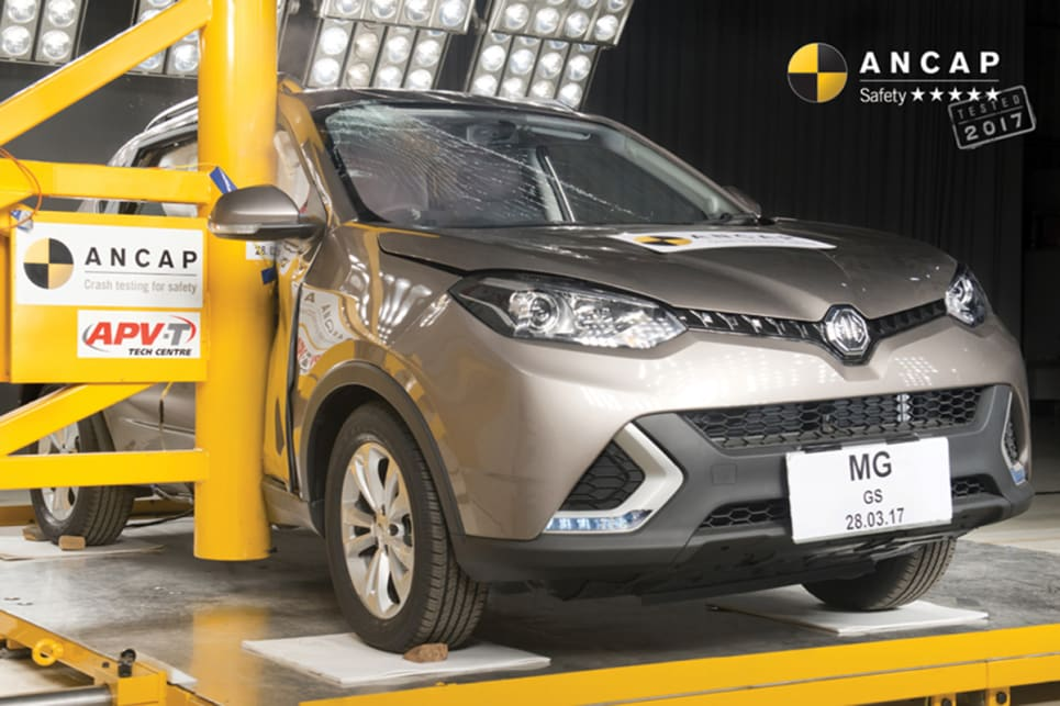 MG has become the first Chinese carmaker to offer a model for sale with a five-star ANCAP crash safety rating.