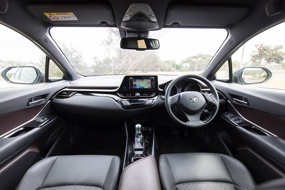 There's enough legroom in the front of the CH-R. (image credit: Dean McCartney)