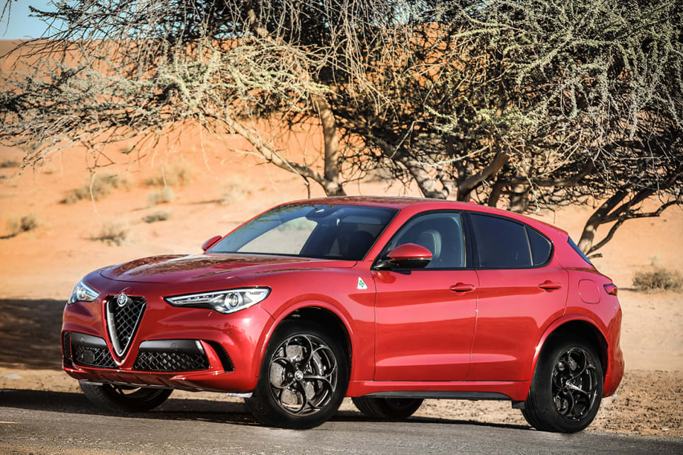 the Stelvio looks fast and fantastic from just about every angle.