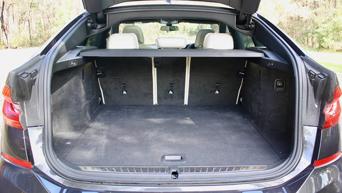 With the back seats in place it has a huge 610 litres of cargo capacity. (image: Matt Campbell)