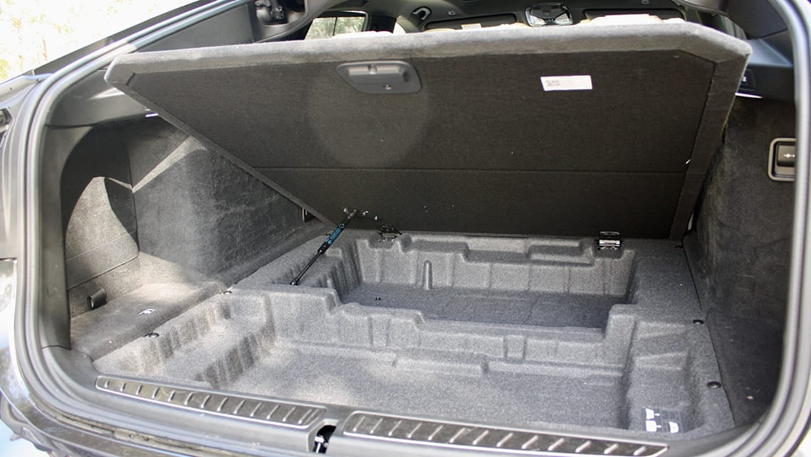 It has a secondary hidden storage area under the boot floor. (image: Matt Campbell)