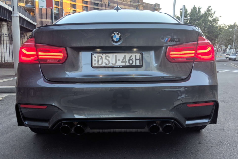 The BMW M3's boot is 480-litres big.