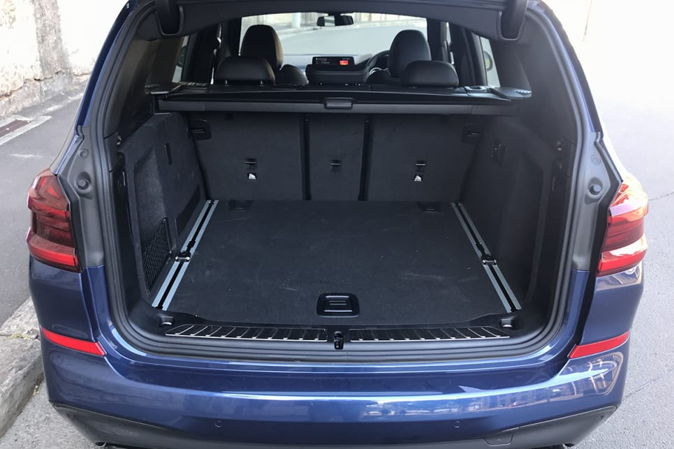 With the rear seats upright, luggage capacity runs to 550 litres. (image: James Cleary)