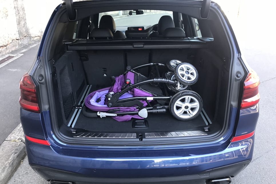 It has more than enough space to accommodate the 'CarsGuide' pram. (image: James Cleary)