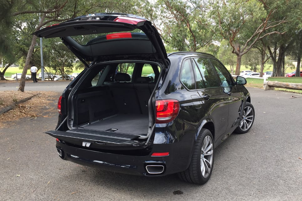 The X5's cargo capacity is 650 litres. (image: Richard Berry)