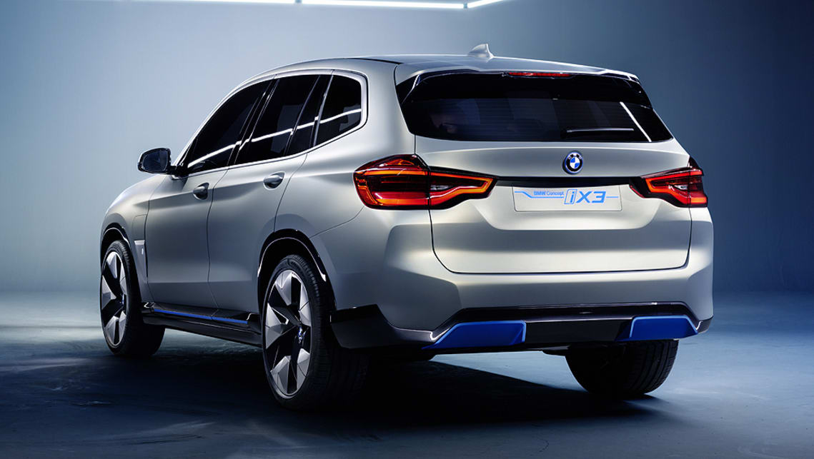 The concept can be distinguished from the BMW X3 SUV by its unique light-alloy wheels.