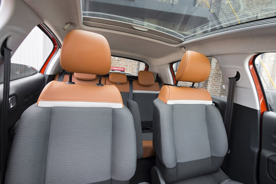 The materials on the seats are well-judged and interesting if you go with the Colorado Hype interior.