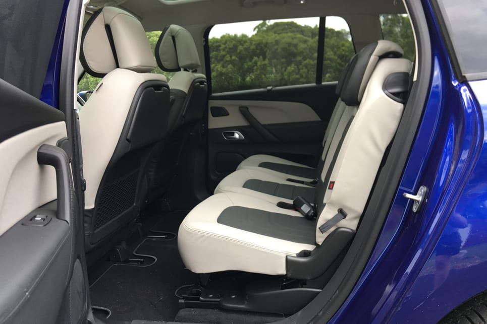 The second row of seats are all individually mounted, so you can slide them forward and back to configure the space however you want.